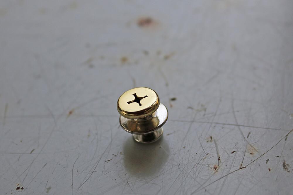 Gold collar pin -Ex- Handmade 14k collar pin