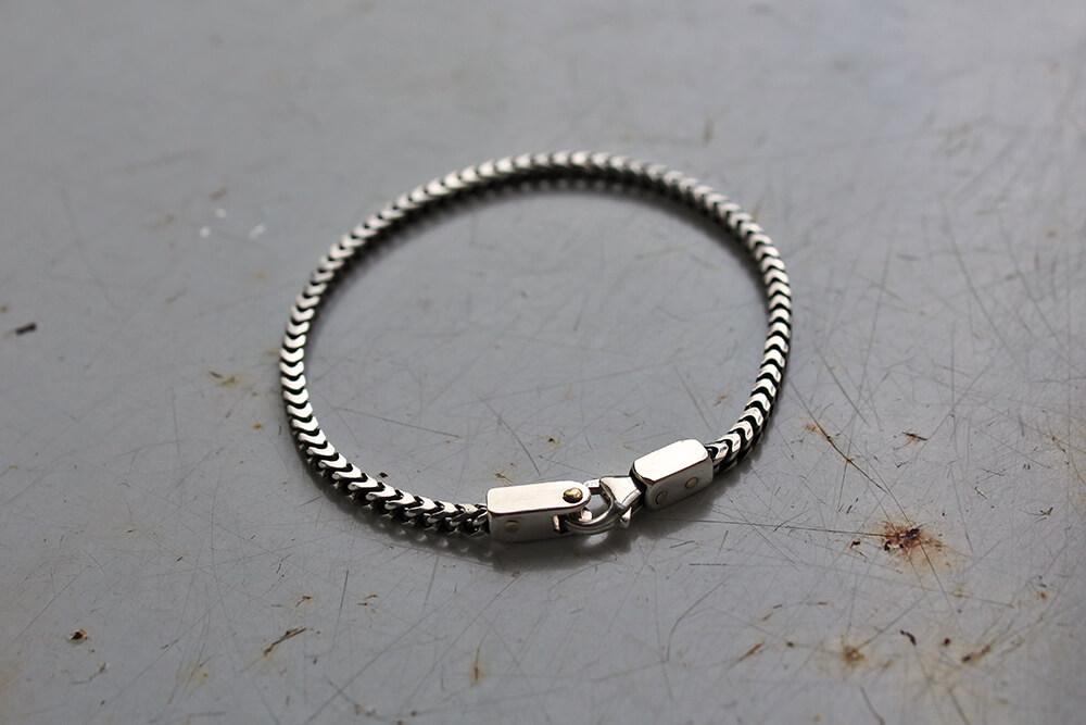 Silver link bracelet - M.brace - Handmade square link bracelet