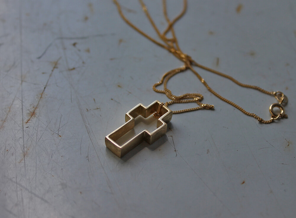 14k gold cross - Cross
